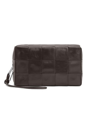 Мужской кожаный несессер BOTTEGA VENETA коричневого цвета, арт. 649993/VCQ72 | Фото 1