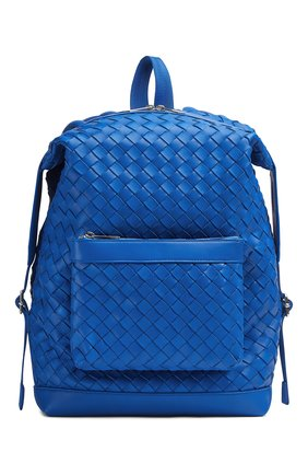 Мужской кожаный рюкзак BOTTEGA VENETA синего цвета, арт. 653118/V0E54   Фото 1