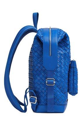 Мужской кожаный рюкзак BOTTEGA VENETA синего цвета, арт. 653118/V0E54   Фото 2