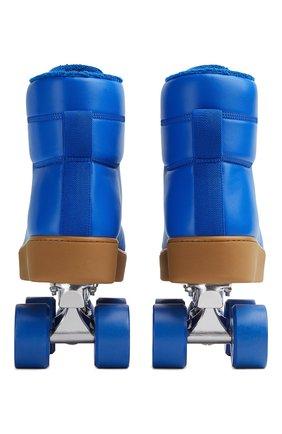 Мужские кожаные роликовые коньки BOTTEGA VENETA синего цвета, арт. 667061/V00T0   Фото 2