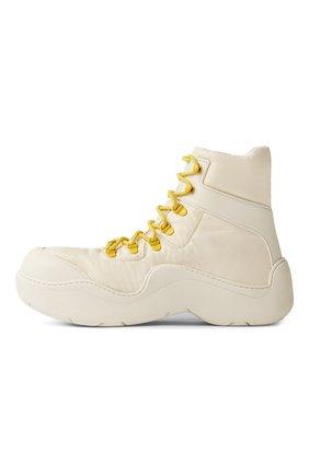 Мужские комбинированные ботинки puddle BOTTEGA VENETA белого цвета, арт. 667064/VBSD7   Фото 1