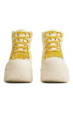 Мужские комбинированные ботинки puddle BOTTEGA VENETA белого цвета, арт. 667064/VBSD7   Фото 2