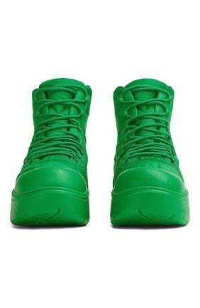 Мужские комбинированные ботинки puddle BOTTEGA VENETA зеленого цвета, арт. 667064/VBSD7   Фото 1