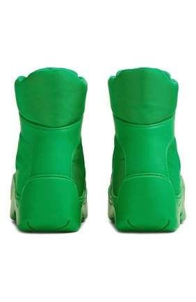 Мужские комбинированные ботинки puddle BOTTEGA VENETA зеленого цвета, арт. 667064/VBSD7   Фото 2