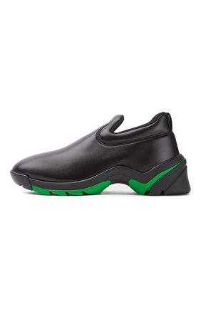 Мужские кожаные кроссовки flash BOTTEGA VENETA черного цвета, арт. 667069/VBSD0   Фото 1