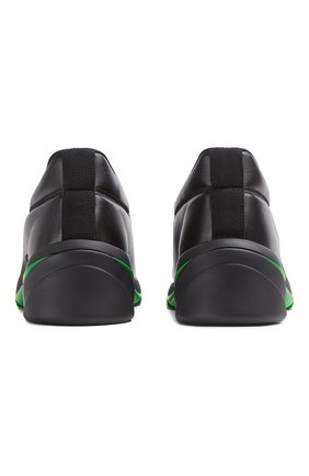 Мужские кожаные кроссовки flash BOTTEGA VENETA черного цвета, арт. 667069/VBSD0   Фото 2