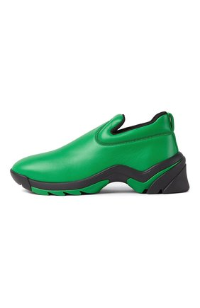 Мужские кожаные кроссовки flash BOTTEGA VENETA зеленого цвета, арт. 667069/VBSD0   Фото 1
