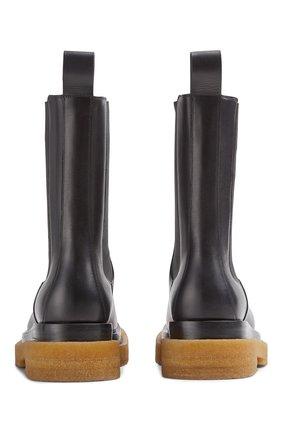 Мужские кожаные челси lug BOTTEGA VENETA черного цвета, арт. 668370/VBS50   Фото 2