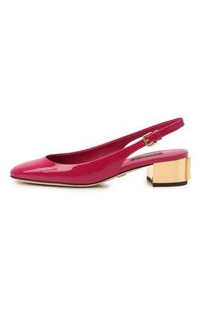 Женские кожаные туфли alexa DOLCE & GABBANA фуксия цвета, арт. CG0498/AQ130 | Фото 2 (Подошва: Плоская; Каблук высота: Низкий; Материал внутренний: Натуральная кожа; Каблук тип: Устойчивый)
