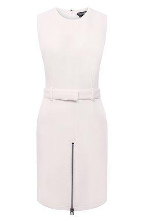 Женское шерстяное платье TOM FORD белого цвета, арт. AB3031-FAX431 | Фото 1 (Материал внешний: Шерсть; Случай: Формальный; Длина Ж (юбки, платья, шорты): Мини; Женское Кросс-КТ: Платье-одежда, платье-футляр; Стили: Кэжуэл; Материал подклада: Шелк)