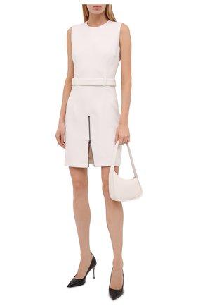 Женское шерстяное платье TOM FORD белого цвета, арт. AB3031-FAX431 | Фото 2 (Материал внешний: Шерсть; Случай: Формальный; Длина Ж (юбки, платья, шорты): Мини; Женское Кросс-КТ: Платье-одежда, платье-футляр; Стили: Кэжуэл; Материал подклада: Шелк)