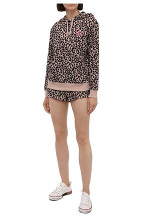 Женская худи CALVIN KLEIN коричневого цвета, арт. QS6666E | Фото 2 (Материал внешний: Синтетический материал, Хлопок; Женское Кросс-КТ: Худи-белье; Длина (для топов): Стандартные; Рукава: Длинные)
