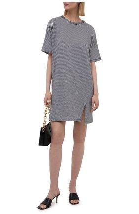 Женское хлопковое платье RAG&BONE черно-белого цвета, арт. WCC21P3040CH40 | Фото 2