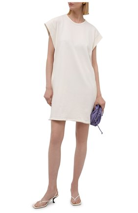 Женское хлопковое платье RAG&BONE бежевого цвета, арт. WCC21P3026PP26 | Фото 2