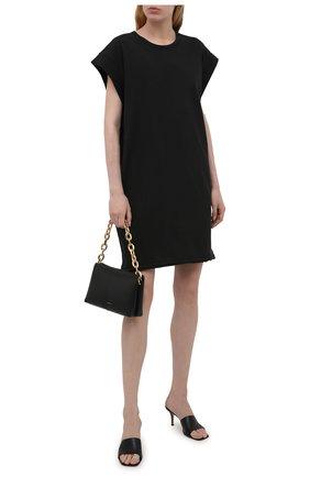 Женское хлопковое платье RAG&BONE черного цвета, арт. WCC21P3026PP26 | Фото 2
