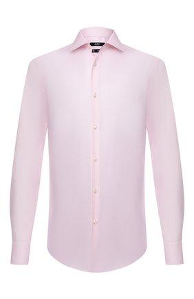 Мужская хлопковая сорочка BOSS розового цвета, арт. 50454446 | Фото 1