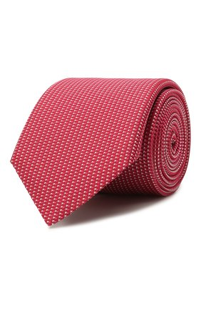 Мужской шелковый галстук BOSS красного цвета, арт. 50455334 | Фото 1