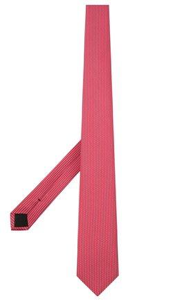 Мужской шелковый галстук BOSS красного цвета, арт. 50455334 | Фото 2