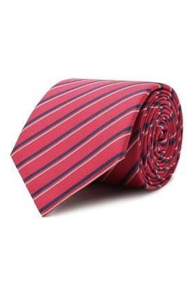 Мужской шелковый галстук BOSS красного цвета, арт. 50455262 | Фото 1
