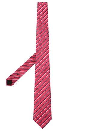 Мужской шелковый галстук BOSS красного цвета, арт. 50455262 | Фото 2