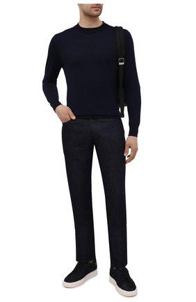 Мужские кожаные кеды SANTONI черного цвета, арт. MBGT21553PNNRBUIN01 | Фото 2