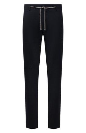 Мужские шерстяные брюки CANALI темно-синего цвета, арт. V1659/AR03474 | Фото 1 (Материал внешний: Шерсть; Длина (брюки, джинсы): Стандартные; Случай: Повседневный; Стили: Кэжуэл)