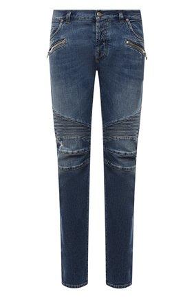 Мужские джинсы BALMAIN синего цвета, арт. WH1MH005/031D | Фото 1
