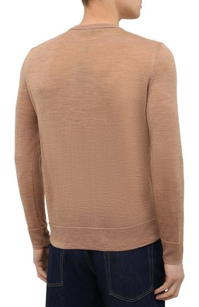 Мужской шерстяной джемпер CANALI бежевого цвета, арт. C0821/MK01260 | Фото 4