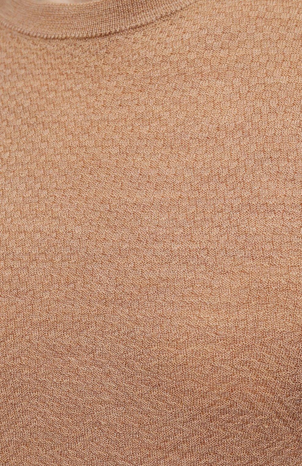 Мужской шерстяной джемпер CANALI бежевого цвета, арт. C0821/MK01260 | Фото 5