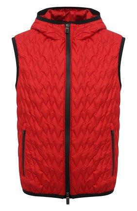 Мужской утепленный жилет CANALI красного цвета, арт. 040655/SY01617 | Фото 1