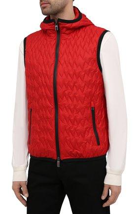 Мужской утепленный жилет CANALI красного цвета, арт. 040655/SY01617 | Фото 3