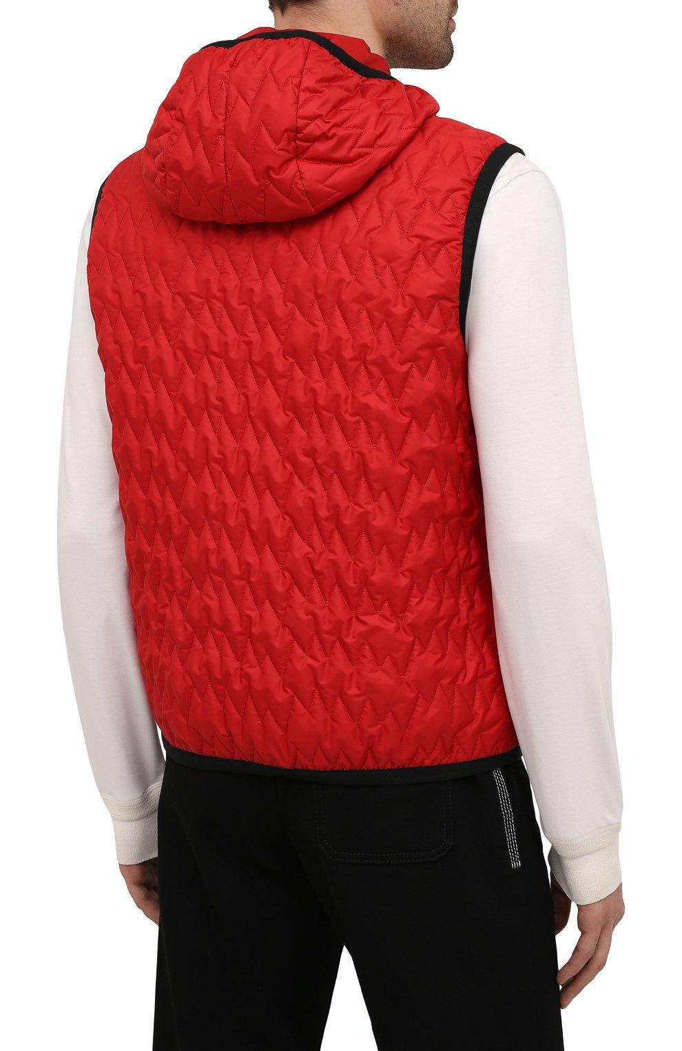 Мужской утепленный жилет CANALI красного цвета, арт. 040655/SY01617 | Фото 4