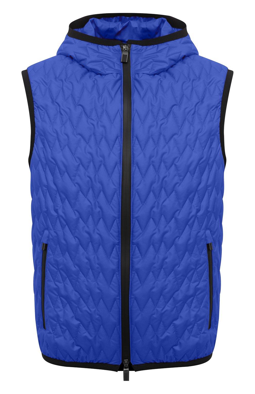 Мужской утепленный жилет CANALI синего цвета, арт. 040655/SY01617   Фото 1