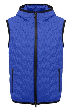 Мужской утепленный жилет CANALI синего цвета, арт. 040655/SY01617 | Фото 1