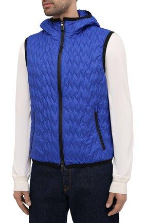 Мужской утепленный жилет CANALI синего цвета, арт. 040655/SY01617   Фото 3
