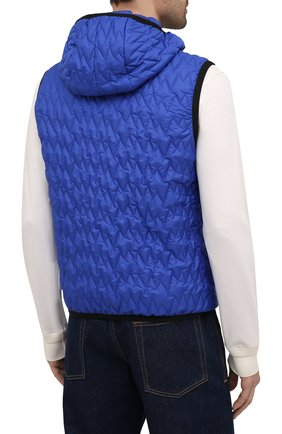 Мужской утепленный жилет CANALI синего цвета, арт. 040655/SY01617   Фото 4