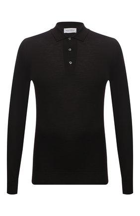 Мужское шерстяное поло JOHN SMEDLEY темно-коричневого цвета, арт. BELPER | Фото 1