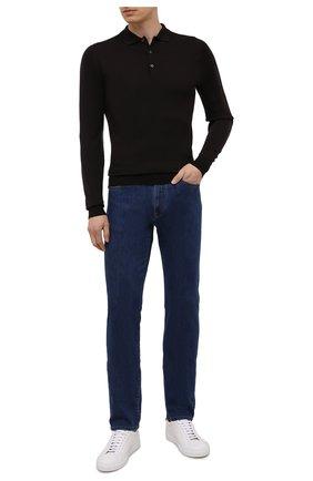 Мужское шерстяное поло JOHN SMEDLEY темно-коричневого цвета, арт. BELPER | Фото 2