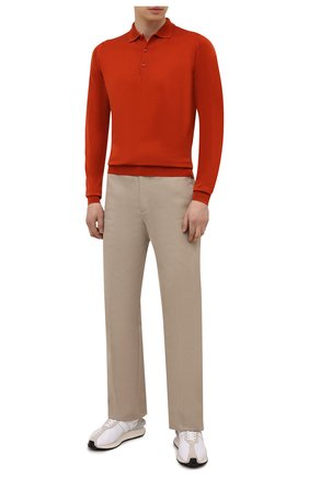 Мужское шерстяное поло JOHN SMEDLEY оранжевого цвета, арт. BELPER | Фото 2