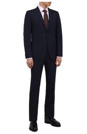 Мужской шерстяной костюм ERMENEGILDO ZEGNA темно-синего цвета, арт. 212599/221225 | Фото 1