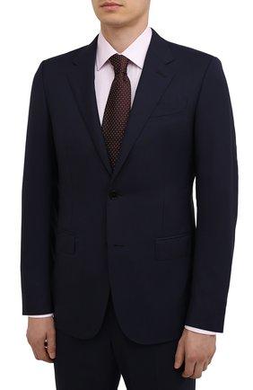 Мужской шерстяной костюм ERMENEGILDO ZEGNA темно-синего цвета, арт. 212599/221225 | Фото 2