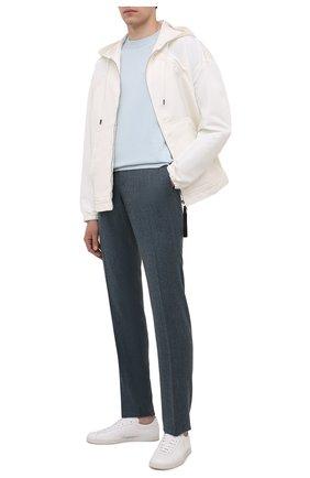 Мужские шерстяные брюки Z ZEGNA синего цвета, арт. 224703/6700GX | Фото 2 (Длина (брюки, джинсы): Стандартные; Материал внешний: Шерсть; Случай: Повседневный; Стили: Кэжуэл)