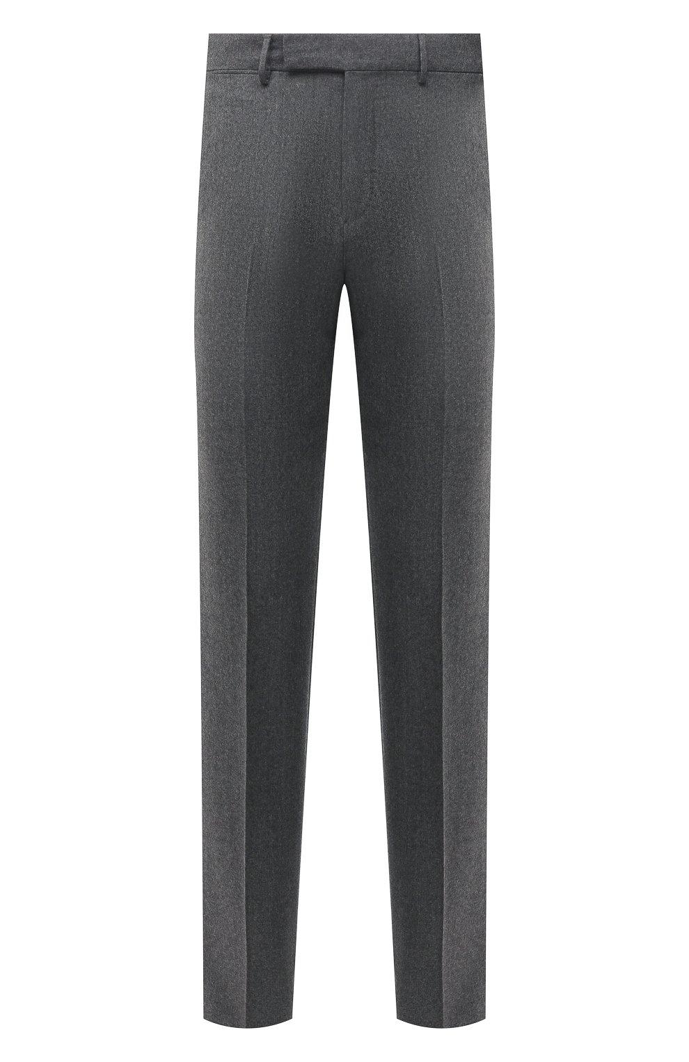 Мужские шерстяные брюки ERMENEGILDO ZEGNA серого цвета, арт. E30F24/75TB12   Фото 1
