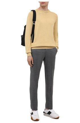 Мужские шерстяные брюки ERMENEGILDO ZEGNA серого цвета, арт. E30F24/75TB12 | Фото 2 (Материал подклада: Вискоза; Длина (брюки, джинсы): Стандартные; Материал внешний: Шерсть; Случай: Повседневный; Стили: Кэжуэл)