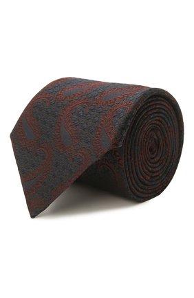 Мужской шелковый галстук ERMENEGILDO ZEGNA темно-синего цвета, арт. Z2D35T/1UM | Фото 1 (Материал: Текстиль; Принт: С принтом)