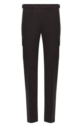 Мужские шерстяные брюки-карго MARCO PESCAROLO коричневого цвета, арт. P0MPEI/ZIP/4416 | Фото 1