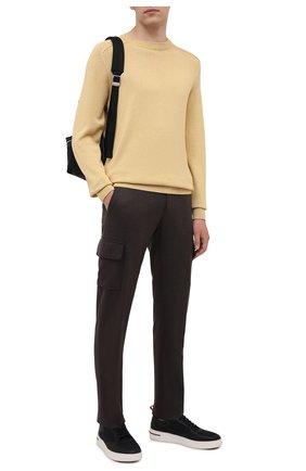 Мужские шерстяные брюки-карго MARCO PESCAROLO коричневого цвета, арт. P0MPEI/ZIP/4416 | Фото 2