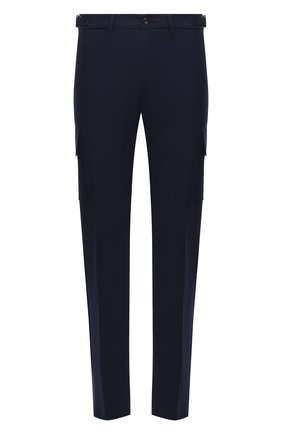 Мужские шерстяные брюки-карго MARCO PESCAROLO темно-синего цвета, арт. P0MPEI/ZIP/4416 | Фото 1