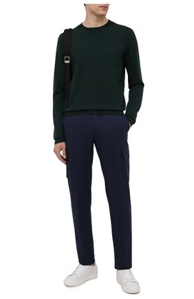 Мужские шерстяные брюки-карго MARCO PESCAROLO темно-синего цвета, арт. P0MPEI/ZIP/4416 | Фото 2