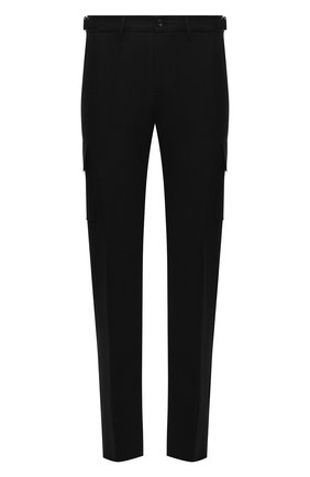 Мужские шерстяные брюки-карго MARCO PESCAROLO черного цвета, арт. P0MPEI/ZIP/4416 | Фото 1